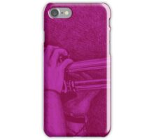 Jazz session. Drawing of man playing the trumpet. iPhone Case/Skin