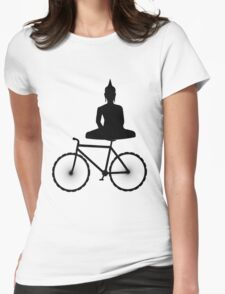 Buddha on a Bicycle Womens Fitted T-Shirt