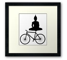 Buddha on a Bicycle Framed Print