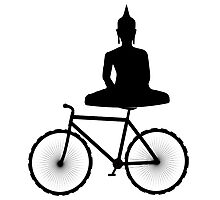 Buddha on a Bicycle Photographic Print