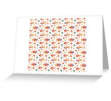 Marine Cute Watercolor Pattern Greeting Card