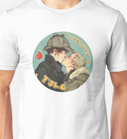 BBC Sherlock: I Believe in TJLC Unisex T-Shirt
