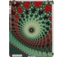 Hot Peppery Spicy Fractal - green and red  iPad Case/Skin