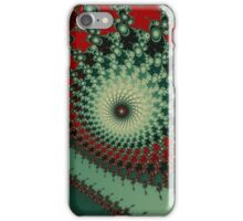 Hot Peppery Spicy Fractal - green and red  iPhone Case/Skin