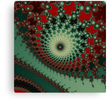 Hot Peppery Spicy Fractal - green and red  Canvas Print