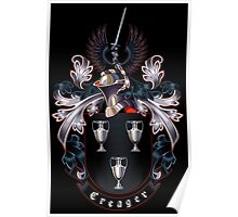 Creager Coat of arms (black background) Poster