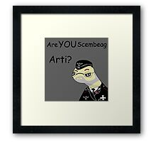 Are YOU Scembeag Arti? Framed Print