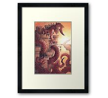 the lady and the dragon Framed Print