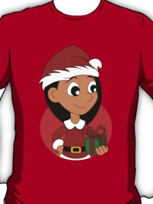 Christmas girl cartoon T-Shirt