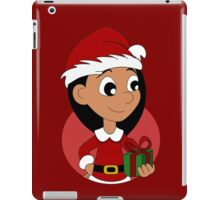 Christmas girl cartoon iPad Case/Skin