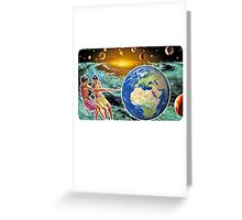 Pull the World Greeting Card