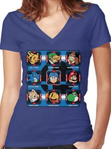 Mega-Smash Women's Fitted V-Neck T-Shirt
