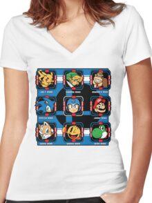 Mega-Smash Women's Fitted V-Neck T-Shirt