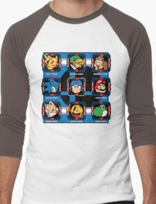 Mega-Smash Men's Baseball ¾ T-Shirt