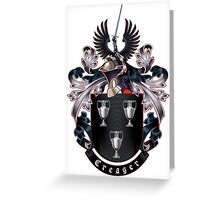 Creager Coat of arms (white background) Greeting Card