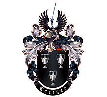 Creager Coat of arms (white background) Photographic Print