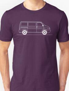 T4 Transporter side view line art for dark colours Unisex T-Shirt