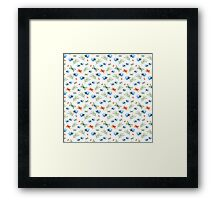 Watercolor summer pattern with floral theme Framed Print