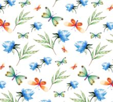 Watercolor summer pattern with floral theme Sticker