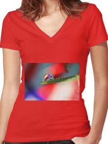 Patriotic Rain Women's Fitted V-Neck T-Shirt