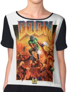Doom Poster Art 1993 PC Chiffon Top