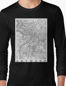 Antwerp Map Line Long Sleeve T-Shirt