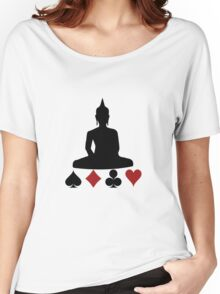 Buddha Playing Card Suits Women's Relaxed Fit T-Shirt