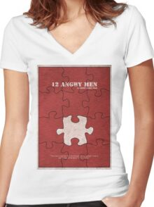 12 Angry Men Women's Fitted V-Neck T-Shirt