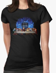 The Doctor Lost in the last Supper Womens Fitted T-Shirt