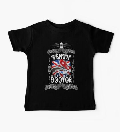 10th is the best doctor typograph Baby Tee