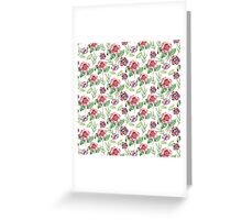 Watercolor summer vintage pattern with floral theme Greeting Card