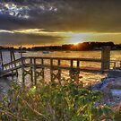 Sunset Over Rhode Island by Nancy Richard