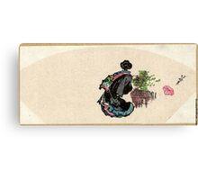 Oiran Zu - Hokusai Katsushika - 1849 - woodcut Canvas Print
