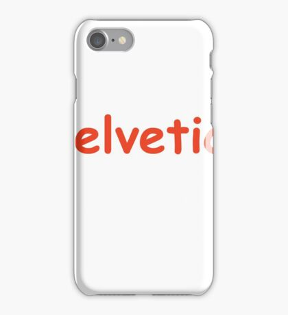Helvetica Comic Sans iPhone Case/Skin