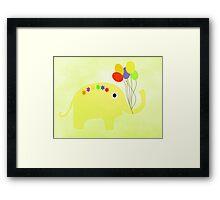 Yellow Elephant Framed Print