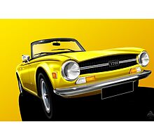 Poster artwork - Triumph TR6 by RJWautographics