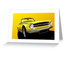 Poster artwork - Triumph TR6 Greeting Card