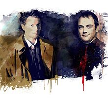 Cas & Crowley by beanzomatic