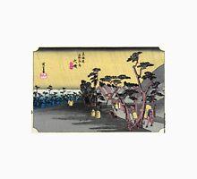 Oiso - Hiroshige Ando - 1833 - woodcut Unisex T-Shirt