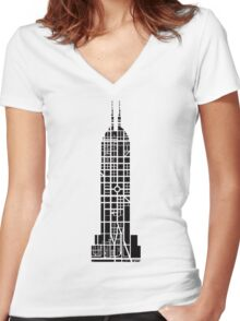 Indy Tower Women's Fitted V-Neck T-Shirt