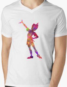 Peter Pan in watercolor Mens V-Neck T-Shirt