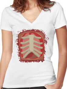 Surgeon Simulator - Ribcage Design - Official Merchandise Women's Fitted V-Neck T-Shirt