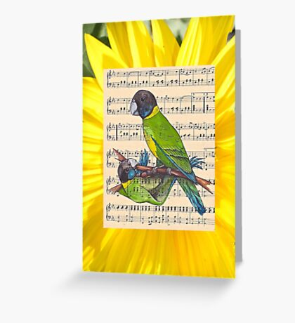 Woodland Whispers - Australian Ringneck Parrots Greeting Card