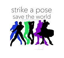 JJBA- Strike a Pose, Save the World! Photographic Print