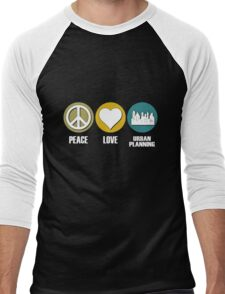 Peace Love Urban Planning Men's Baseball ¾ T-Shirt