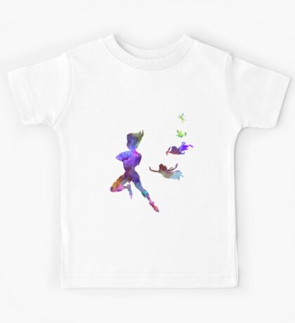 Peter Pan in watercolor Kids Tee