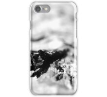 Bark Textures Black and White iPhone Case/Skin
