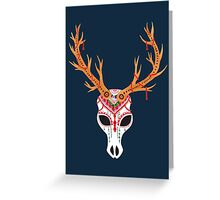 The Deer Head Skull   Greeting Card