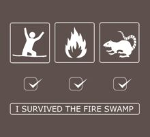 I survived the fire swamp One Piece - Short Sleeve