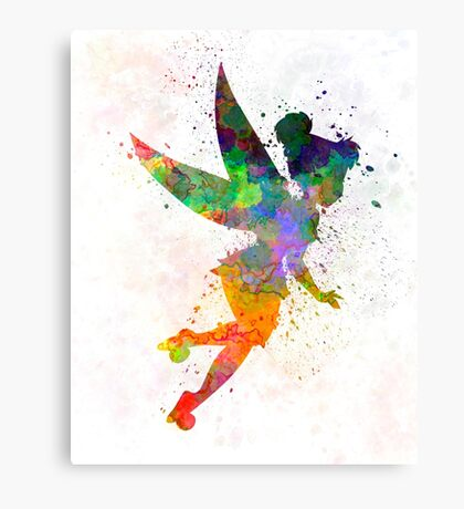 Tinkerbell in watercolor Canvas Print